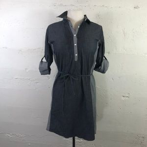 Kuhl Chambray Pull Over Shirt Dress W/ Roll Sleeve